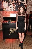 Atlanta de Cadenet joined Vogue  and Cointreau at Highline Studios in an illusion neckline LBD.
