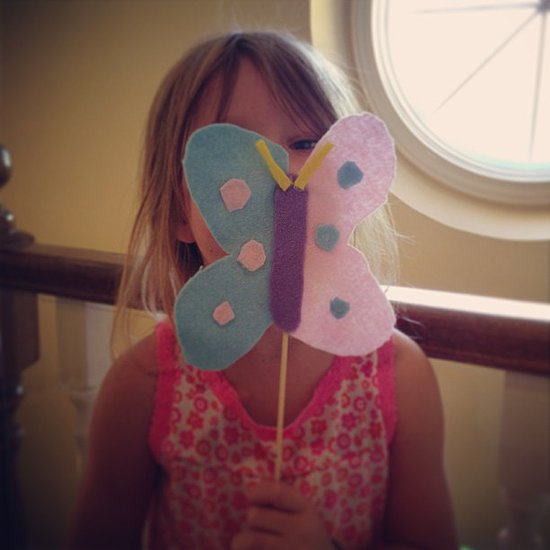 Stella McDermott got crafty making a cute felt butterfly. Source: Instagram user torianddean