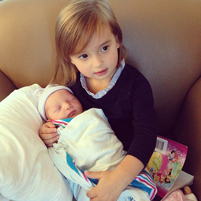 Arabella Kushner met her baby brother, Joseph Frederick, for the first time. Source: Instagram user ivankatrump