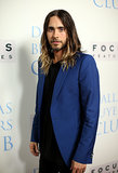 Jared Leto wore a blue blazer to the event.