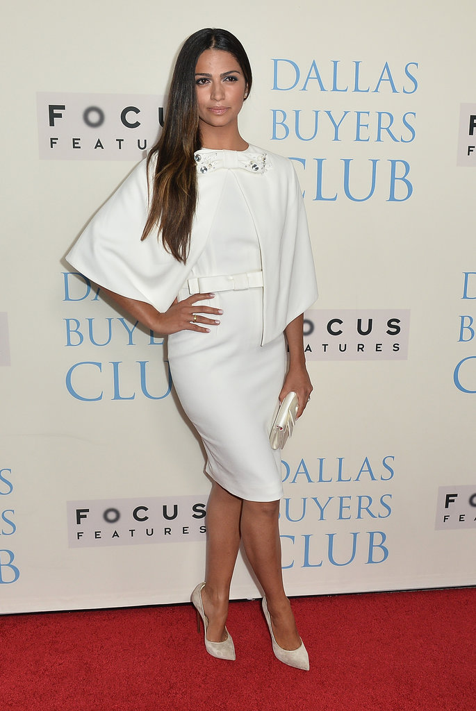 Camila Alves was a vision in white at the LA premiere.