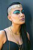 Throw on a golden headpiece and necklaces, and you're a modern-day Cleopatra. Source: Caroline Voagen Nelson