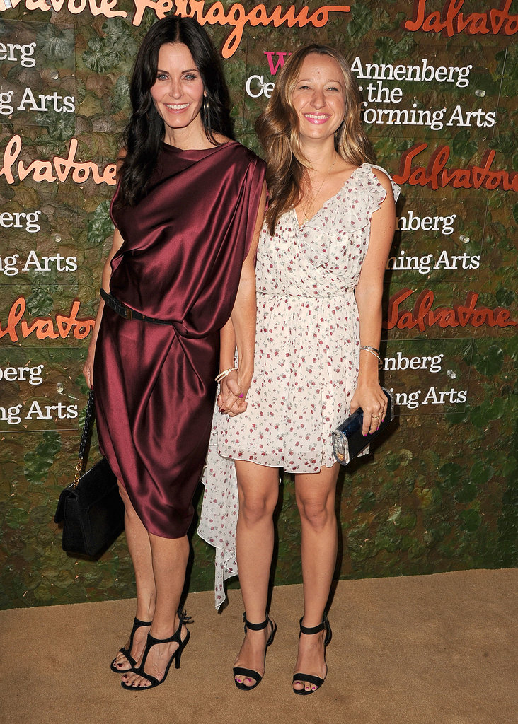 Courteney Cox and Jennifer Meyer posed for cameras during the Annenberg Gala.