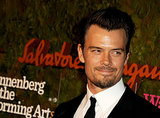 Josh Duhamel shared a subtle smile for cameras.