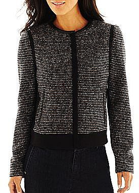 Liz Claiborne Cropped Tweed Jacket