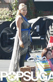 Busy Philipps filmed scenes for Cougar Town on Wednesday in LA.
