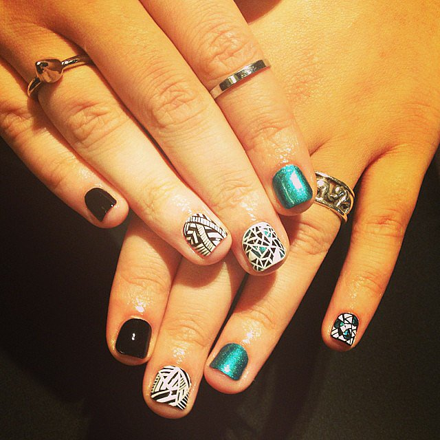 Our very own editor Maria Del Russo shared this epic manicure on our Instagram. Source: Instagram user popsugarbeauty