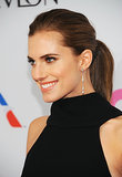 Allison Williams made a ponytail suitable for a black-tie affair. The trick? Keep it on the lower side.