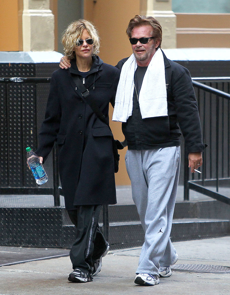Meg Ryan and John Mellencamp were spotted arm in arm after leaving the gym together in NYC.