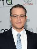Matt Damon attended the Environmental Media Awards.
