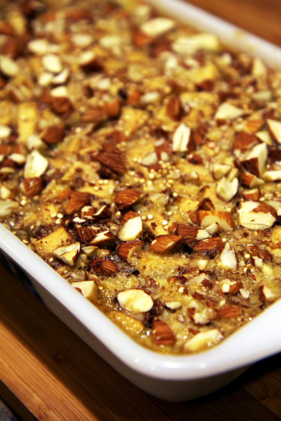 Whip up a batch of this gluten-free quinoa bake featuring soft ...