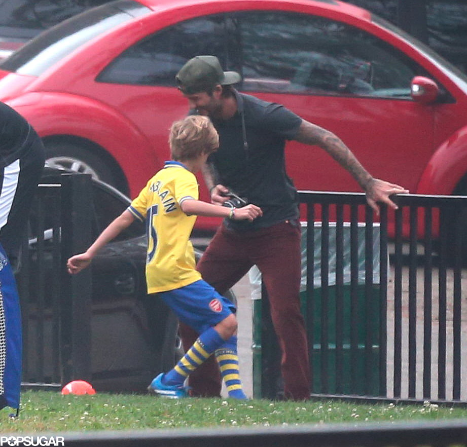 David Beckham and Cruz played soccer together.
