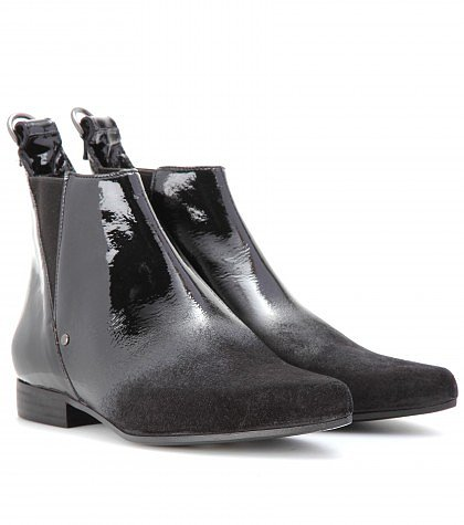 McQ Alexander McQueen - PATENT-LEATHER ANKLE BOOTS