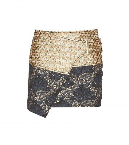 Kenzo - Metallic jacquard mini skirt
