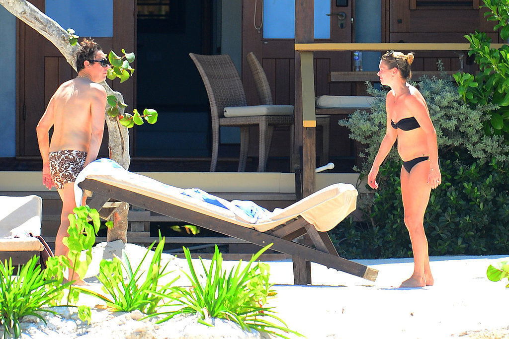 Kate Moss and Jamie Hince relaxed at their villa in Jamaica.