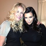 Kim Kardashian caught up with Chelsea Handler. Source: Instagram user kimkardashian