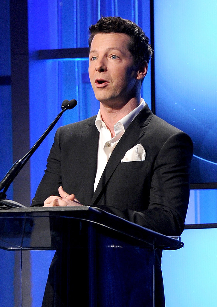 Sean Hayes took the stage at the Hollywood Film Awards.