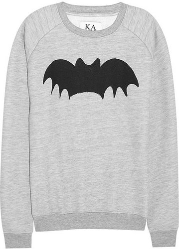Zoe Karssen Bat cotton-blend jersey sweatshirt