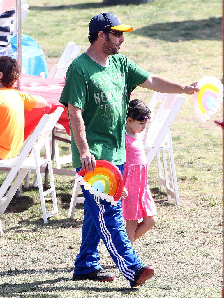 Adam Sandler also stopped by the festival with his daughters.