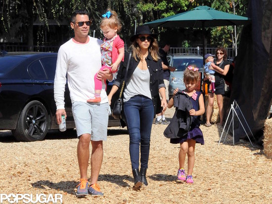 Jessica Alba and her family returned to the pumpkin patch three times this month in LA.