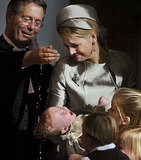 Queen Máxima of the Netherlands held her daughter Princess Ariane during her baptism ceremony in The Hague on Oct. 20, 2007.