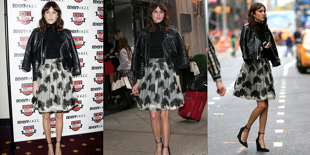 Alexa Chung Taps Into The Black and White Trend