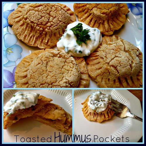 Toasted Hummus Pockets