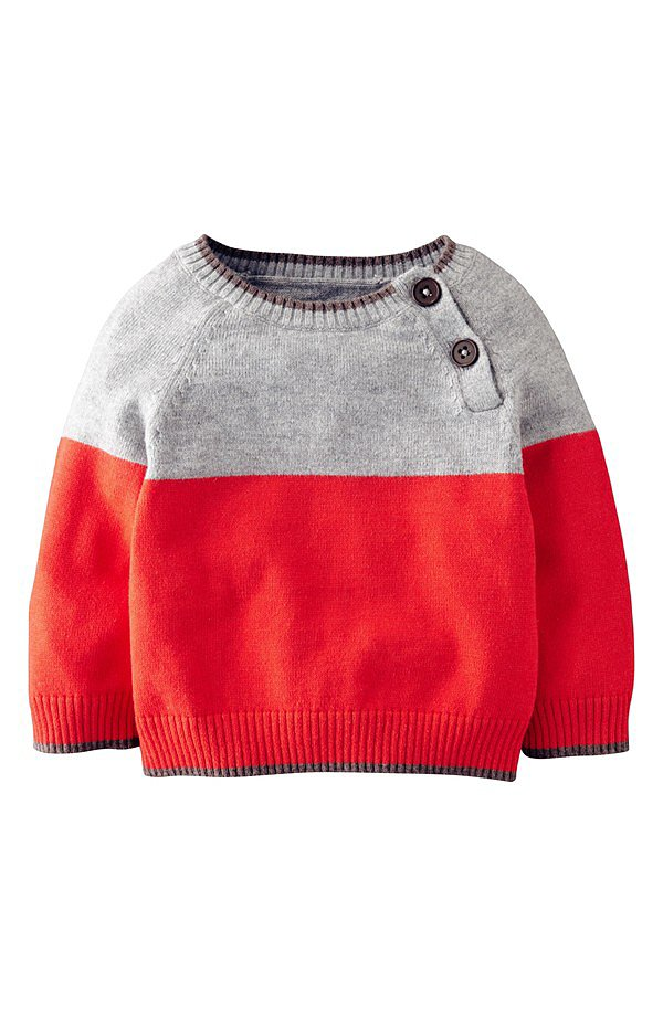 Mini Boden Essential Colorblock Sweater