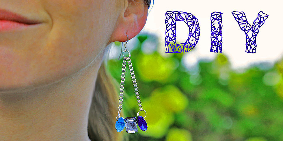 DIY Dangly Crystal Earrings