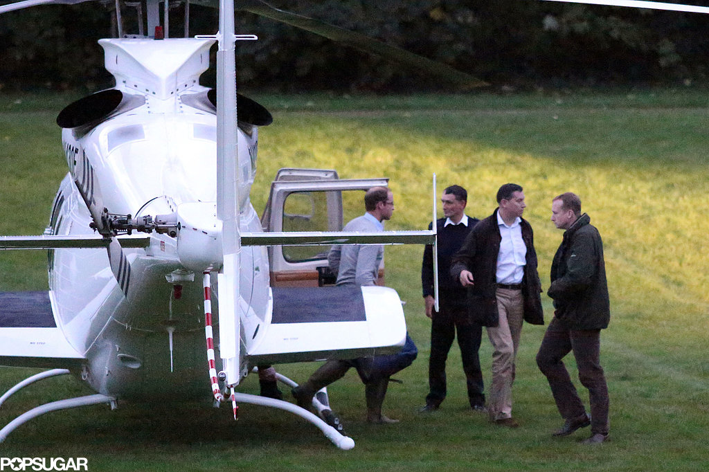 Prince William's helicopter landed back in London.