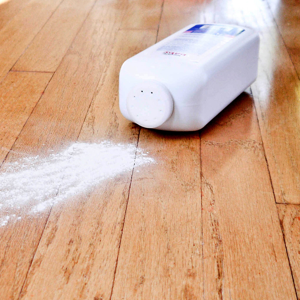 Fix squeaky floors baby powder