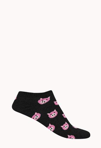 FOREVER 21 Pig Parade Ankle Socks