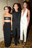 Zoë Kravitz, Alexander Wang, and Joan Smalls chose monochromatic looks for the evening.