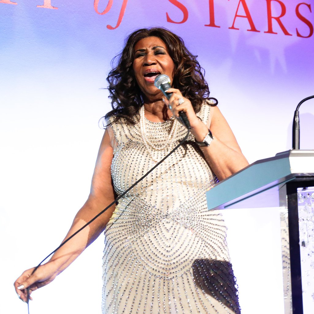 Aretha Franklin sparkled both on and off stage.