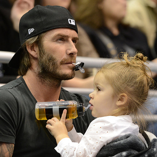 Beckhams at the LA Kings Hockey Game 2013