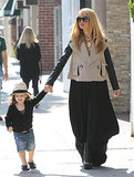 Rachel Zoe held hands with her son, Skyler Berman.