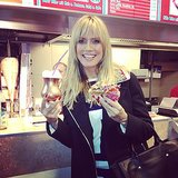 Heidi Klum indulged in some authentic German food during a trip overseas. Source: Instagram user heidiklum
