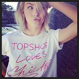 Julianne Hough showed her excitement for a new Topshop store. Source: Instagram user juleshough