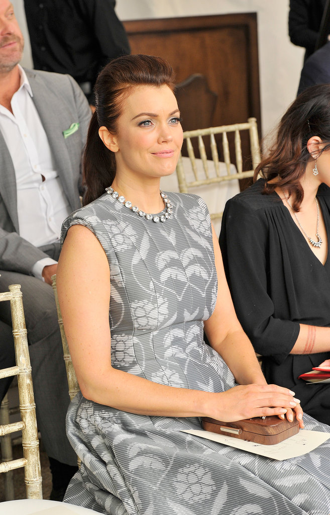 Bellamy Young's full ponytail was high on volume and high on style.