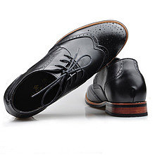 Black / Brown Men Height Inceasing Dress Shoes look taller 7cm / 2.75inch