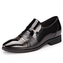 Black / Brown Men Height Inceasing Dress Shoes grow height 7cm / 2.75inch