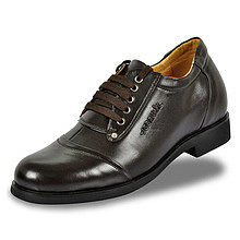 Black / Brown Men Elevator Dress Shoes look tall 7cm / 2.75inch