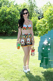 Katy Perry bared her midriff in a Dolce & Gabbana getup while partying at Coachella in April 2013.