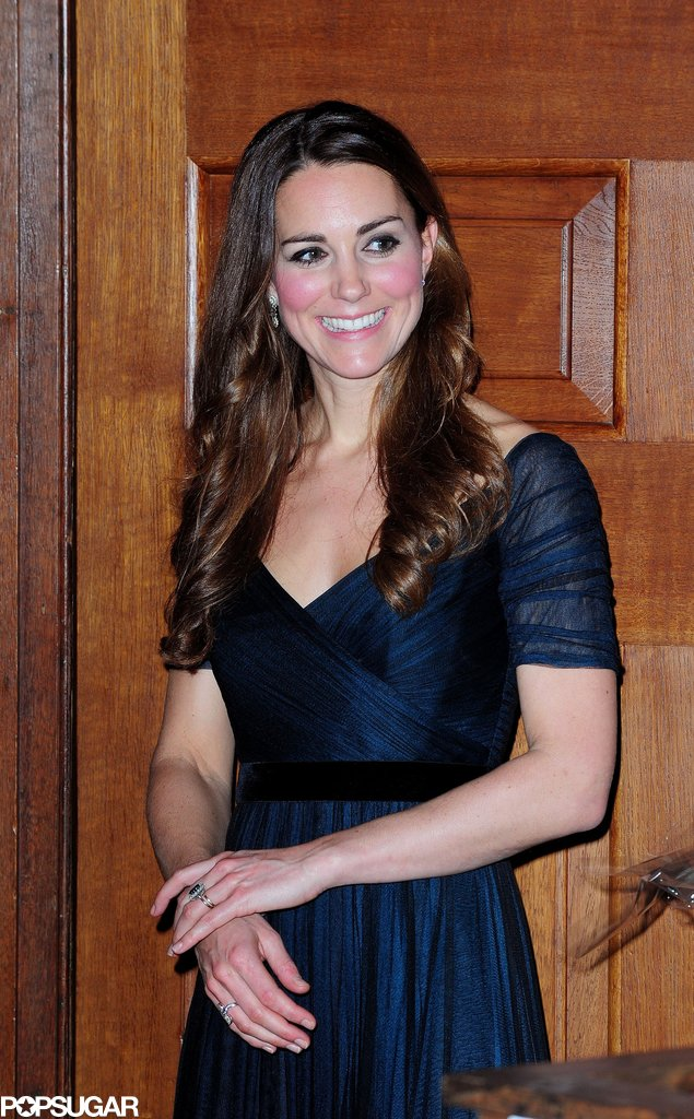 Kate Middleton made her first solo gala appearance since giving birth to Prince George.