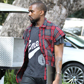Kanye West in LA After Getting Engaged to Kim Kardashian