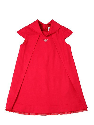 Brighten up her closet this season thanks to this red flannel dress ($271) with adorable cap sleeves.