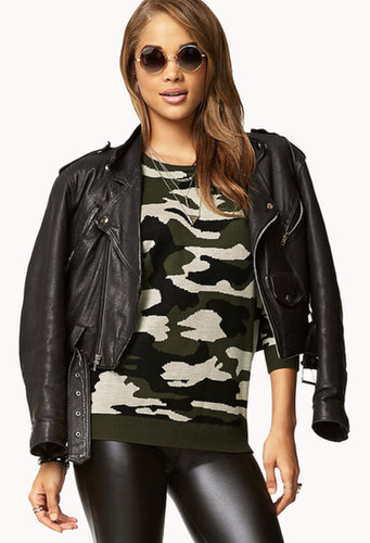 FOREVER 21 Camo Sweater