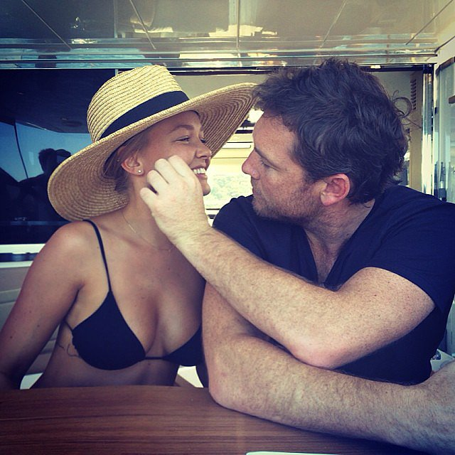 Lara Bingle shared this sweet snap of boyfriend Sam Worthington in Oct. 2013. Source: Instagram user mslbingle
