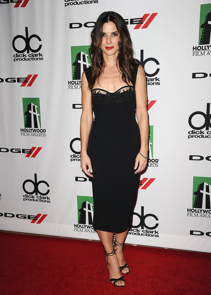 Sandra Bullock found lingerie inspiration in her DSquared2 LBD at the Hollywood Film Awards.