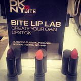 Donna Karan snapped a shot of her custom lipstick shades from Bite Beauty at the Girl's Night Out at DKNY SoHo. Source: Instagram user donnakarandkny